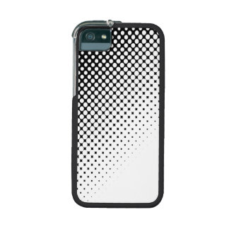 Bold Black and White Polka Dots Geometric Graphic Cover For iPhone 5/5S