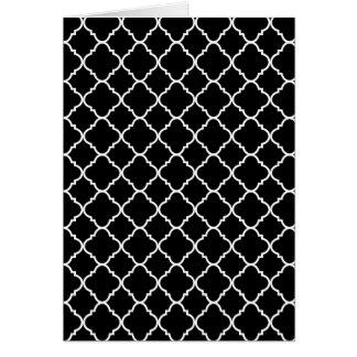 bold black and white quatrefoil card