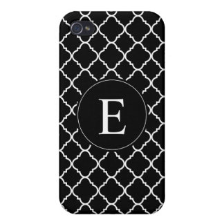 bold black and white quatrefoil iPhone 4/4S cover