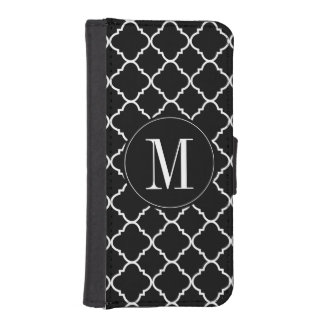 bold black and white quatrefoil iPhone SE/5/5s wallet