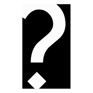 bold black and white question mark business card