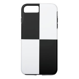 Bold Black and White Rectangles iPhone 7 Plus Case