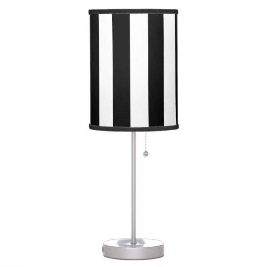 Bold Black and White Stripes Lamp Shade with Lamp | Zazzle.com