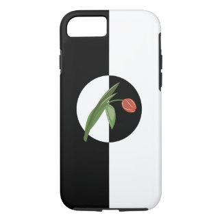 Bold Black and White with Tulip iPhone 7 Case