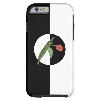 Bold Black and White with Tulip Tough iPhone 6 Case