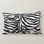 Bold Black and White Zebra Pattern Throw Pillows