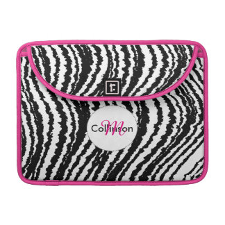 Bold Black and White Zebra Stripe Design Sleeve For MacBooks