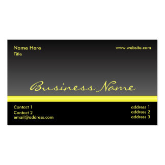 Bold Black and Yellow business card II