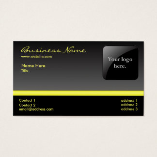 Bold Black and Yellow business card -with logo