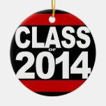 Bold Black Block Class of 2014 Graduation Christmas Ornament