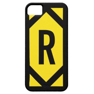 Bold Black Border Monogram Yellow iPhone 5 Case