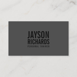bold blackgray personal trainer business card - What To Put On A Personal Business Card