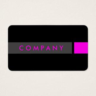 Bold black & magenta professional business card