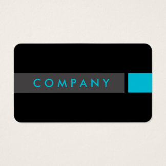 Bold black & turquoise professional business card