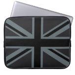Bold Black Union Jack Laptop Computer Sleeves