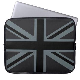 Bold Black Union Jack Laptop Sleeve