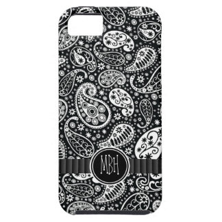 Bold Black White Country  Paisley Personalized iPhone SE/5/5s Case