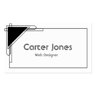 Bold Black & White Double-Sided Standard Business Cards (Pack Of 100)