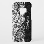 "Bold Black White Floral Samsung Galaxy S9 Case<br><div class=""desc"">Bold Black and White Floral Design Samsung Galaxy S9 Case with optional personalization.</div>"