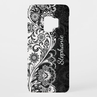 Bold Black White Floral Samsung Galaxy S9 Case