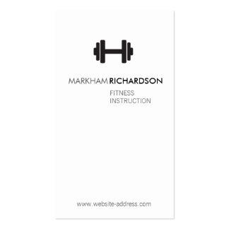 Bold Black White Personal Trainer Business Card