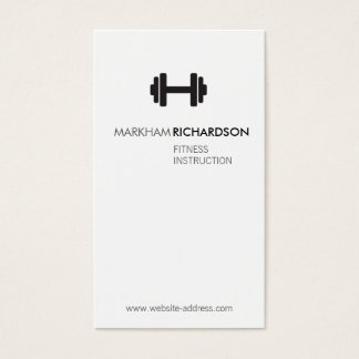 Bold Black/White Personal Trainer Business Card
