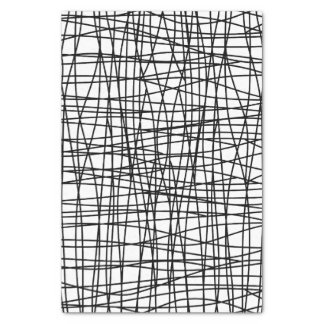 Bold Black & White Scribble Art Tissue Paper