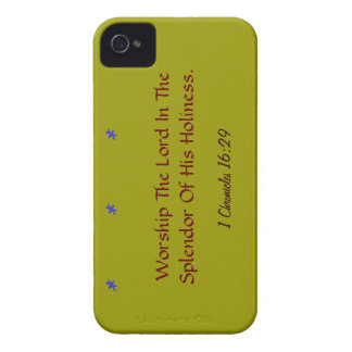 Bold blackberry case mate Worship the lord verse!
