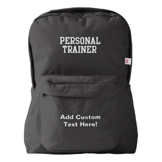 Bold Block Personal Trainer Fitness Backpack