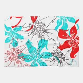 Bold Blossoms Hand Towel
