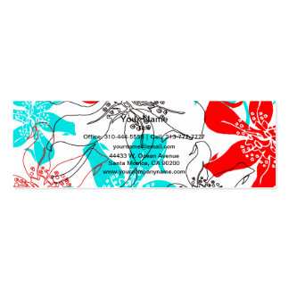 Bold Blossoms Mini Business Card