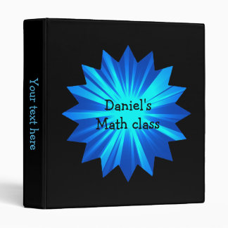 Bold blue and black name binder