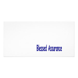 Bold Blue Blessed Assurance Card