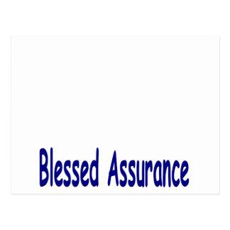 Bold Blue Blessed Assurance Postcard