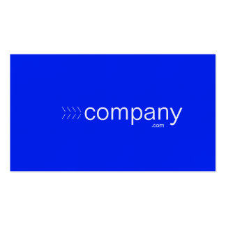 Bold blue business card featuring your web address