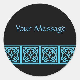 Bold Blue Classic Round Sticker