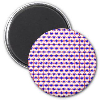 Bold Blue Irregular Patterns 2 Inch Round Magnet