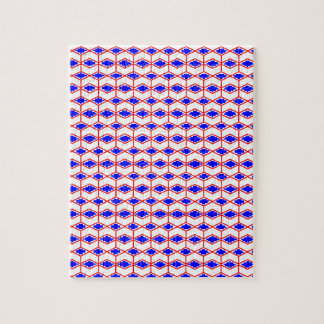 Bold Blue Irregular Patterns Jigsaw Puzzle