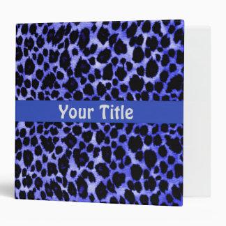Bold Blue Leopard Binder ~ Animal Print Portfolio