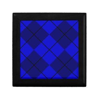 Bold Blue on Blue Argyle Gift Box