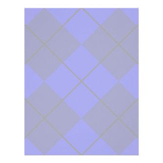 Bold Blue on Blue Argyle Letterhead