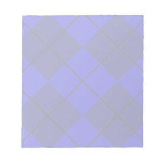 Bold Blue on Blue Argyle Notepad