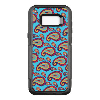 Bold Blue Paisley OtterBox Commuter Samsung Galaxy S8+ Case