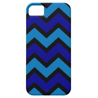 Bold blue shades chevron style iphone 5 case