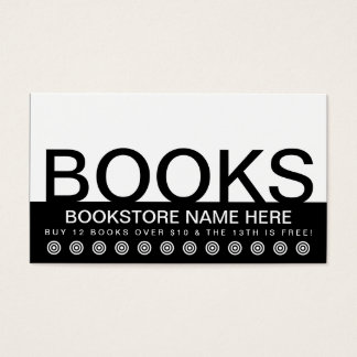 bold BOOKS customer loyalty card