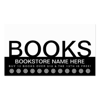 bold BOOKS customer loyalty card Double-Sided Standard Business Cards (Pack Of 100)