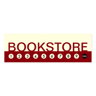 bold BOOKSTORE customer loyalty Double-Sided Mini Business Cards (Pack Of 20)