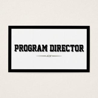 Bold Border Program Director Business Card