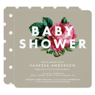 Bold Botanical | Baby Shower Invitation