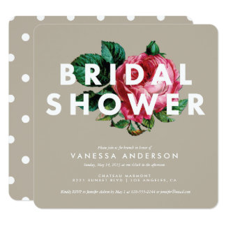 Bold Botanical | Bridal Shower Invitation